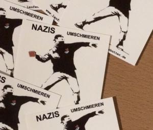 Nazis umschmieren - Sticker