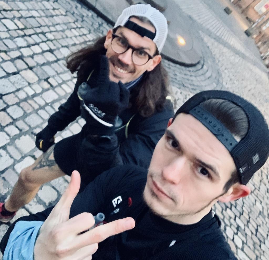 Daniel & Max vorm Start (Bild)